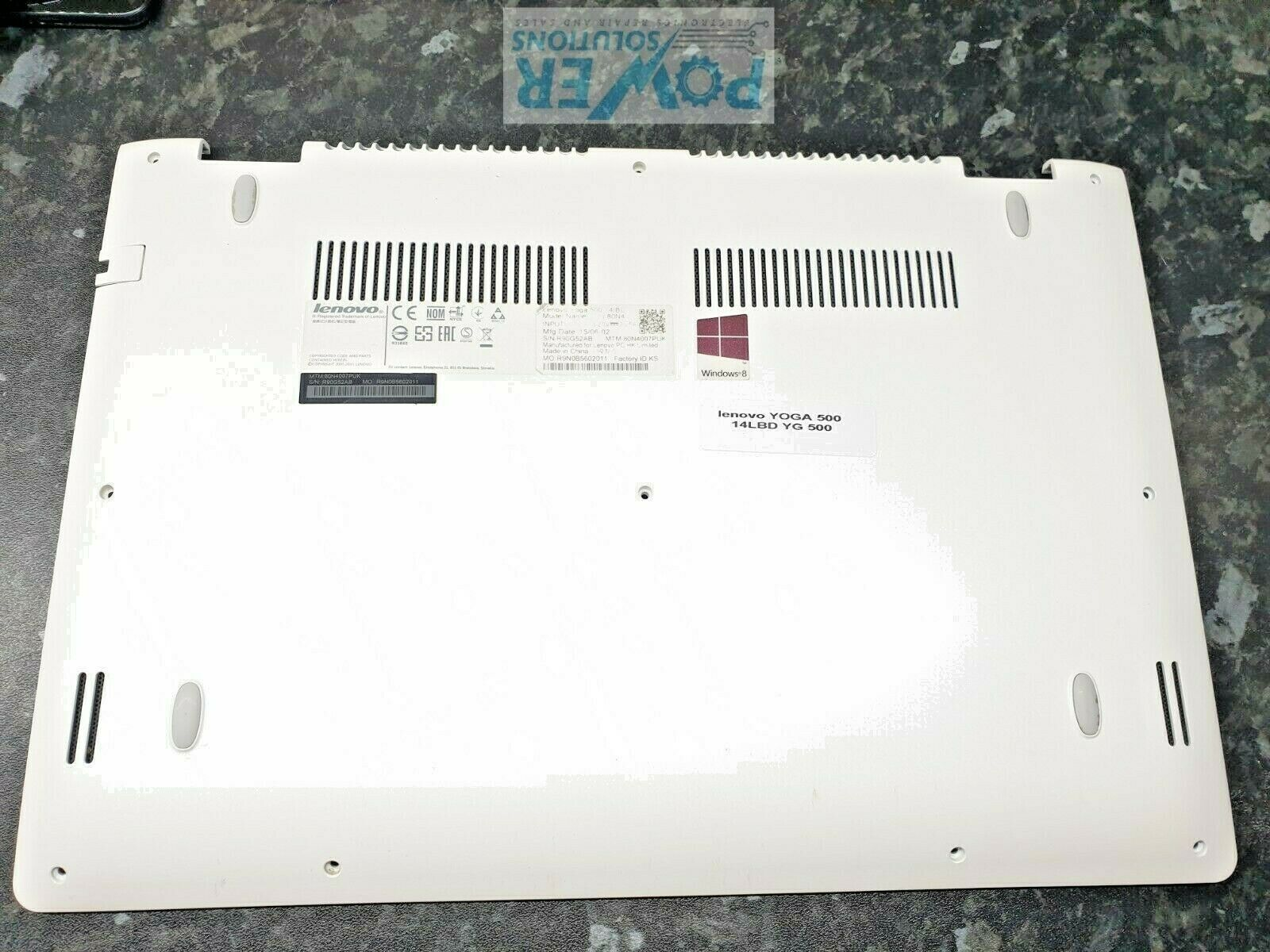 LENOVO YG500 YOGA 14LBD BOTTOM COVER WHITE GENUINE PARTS 143573835261