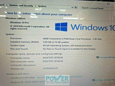 HP G62 b17SA 156 500GB AMD Turion II Dual Core 24GHz 4GB WIN 10 143638067654 9