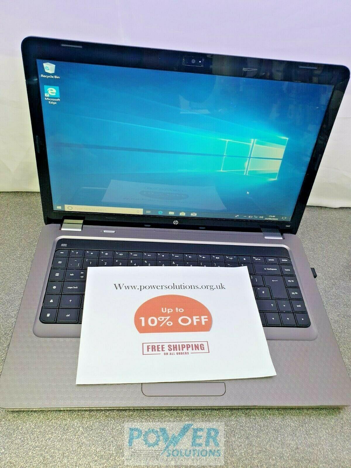 HP G62 b17SA 156 500GB AMD Turion II Dual Core 24GHz 4GB WIN 10 143638067654