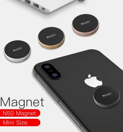 Magnetic Car Phone Holder Universal Wall Desk GPS Disc Round Metal Magnet Mount 143890681427 3