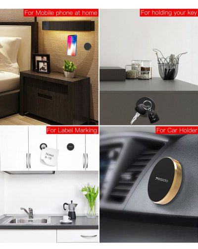 Magnetic Car Phone Holder Universal Wall Desk GPS Disc Round Metal Magnet Mount 143890681427 8