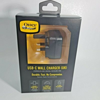 Otterbox 78 51747 Single Port USB C UK Plug Wall Charger Fast 3A 27W Black 143889500299