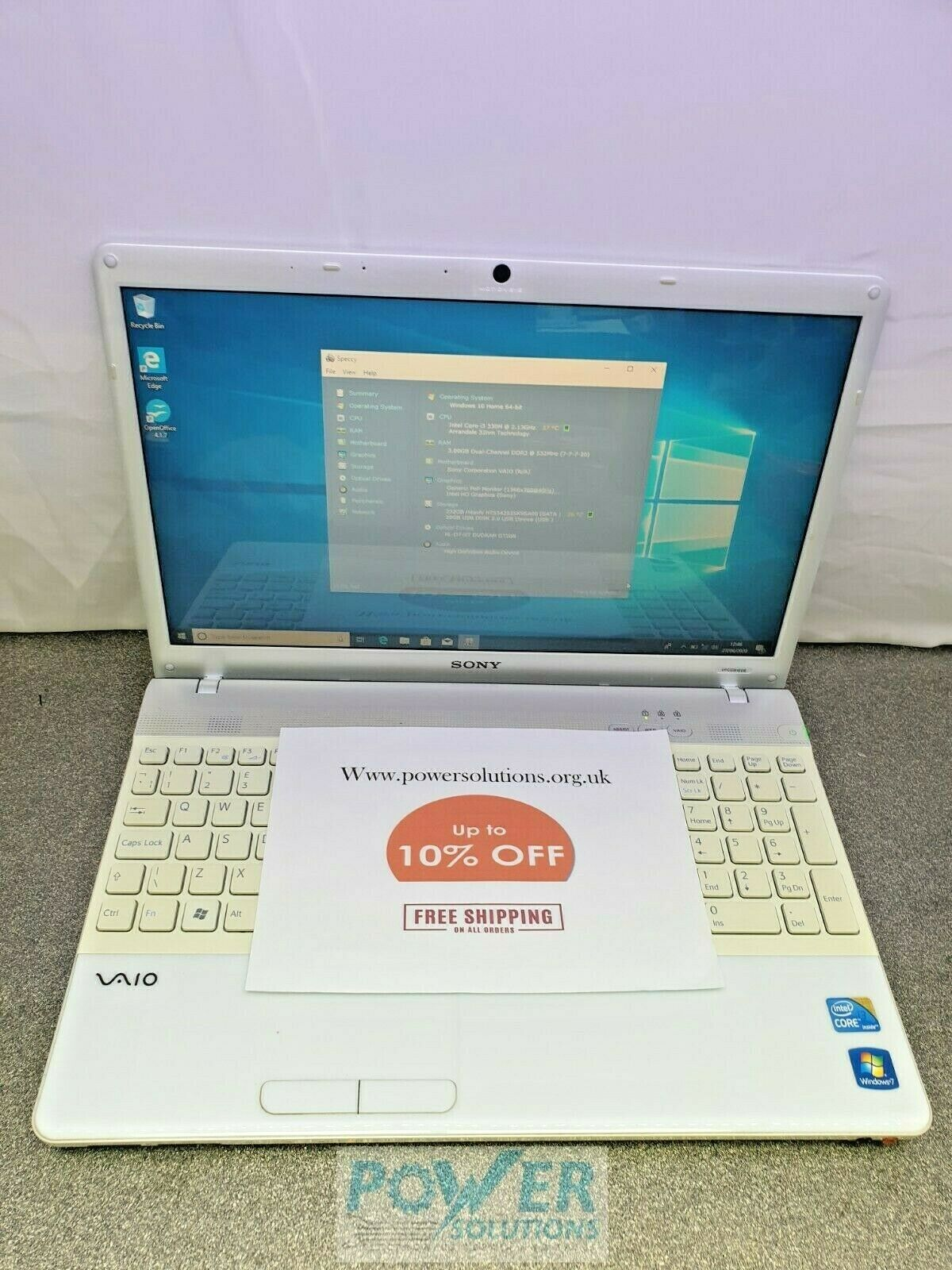 SONY VAIO PCG 71312M WIN 10 3GB 232GB i3 330M LAPTOP 133450005629