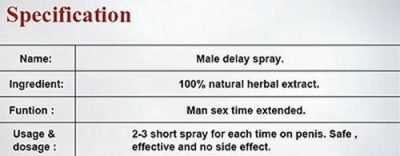 SUPER sex delay spray last longer no side effect fast dispatch 142295200269 4